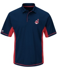 Majestic Men's Cleveland Indians Top Of The Inning Polo