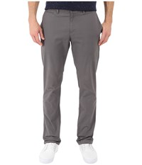 Original Penguin P55 Slim Stretch Chino Slim Fit Castlerock Men's Casual Pants Gray