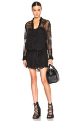 Ann Demeulemeester Belted Collarless Blouse In Black