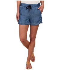 Splendid Rayon Voile Short Medium Wash Women's Shorts Navy