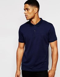 Dkny Polo Shirt Embroidered Chest Logo Navy