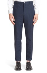 Thom Browne Men's Unconstructed Chinos Navy