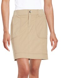 Lord And Taylor Cargo Skirt Summer Tan