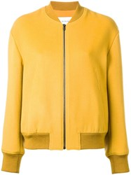 Le Ciel Bleu Ruffle Sleeve Bomber Jacket Yellow Orange
