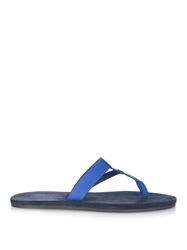 Lanvin Leather And Nylon Thong Flip Flops