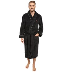 Tommy Bahama Vintage Marlin Plush Robe Coal Men's Robe Gray