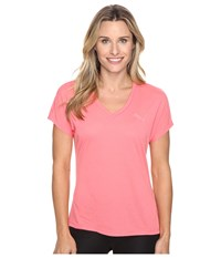 Puma Elevated Sporty Tee Sunkist Coral Women's T Shirt Multi