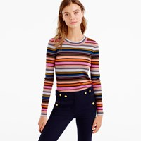 J.Crew Rainbow Stripe Sweater In Merino Wool