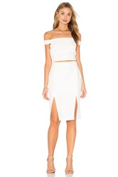 Endless Rose Off The Shoulder Cutout Dress White