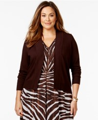 Michael Michael Kors Plus Size Cropped Cardigan Sweater