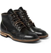 Viberg Rubber Soled Leather Lace Up Boots