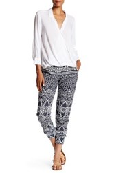 Velvet By Graham And Spencer Printed French Terry Pant Blue