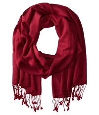 Betsey Johnson Cashmere Silk Real Pashmina Burgundy Scarves