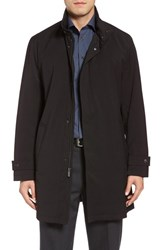 Michael Kors Men's Big And Tall Stretch Rain Coat Black