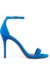 Sandro Alina Suede Sandals Blue