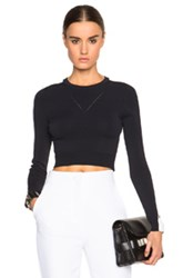 Opening Ceremony Cut Out Cropped Top In Black