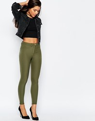 Asos Stretch Skinny Trousers In Ultimate Fit Green