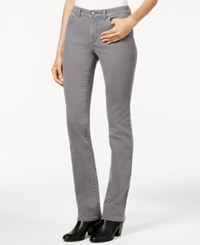 Charter Club Petite Lexington Pearl Grey Wash Straight Leg Jeans Only At Macy's