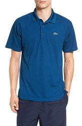 Lacoste Men's 'Sport' Raglan Ultra Dry Performance Polo Yachting Blue