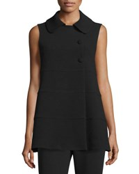 Co Tiered Woven A Line Vest Black