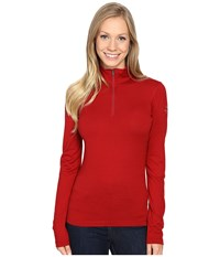 Icebreaker Oasis Long Sleeve Half Zip Oxblood Women's Clothing Red