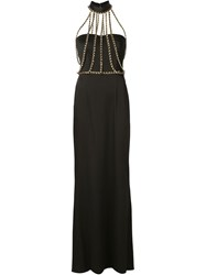 Moschino Chain Detail Gown Black