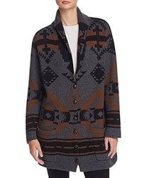 French Connection Lake Knits Cardigan Dark Grey Melange