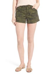 Women's Sanctuary 'Traveler' Camo Print Stretch Twill Shorts