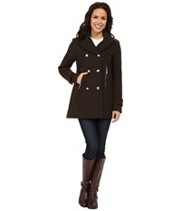 Vince Camuto Double Breasted Military Wool J8001 Olive Women's Coat