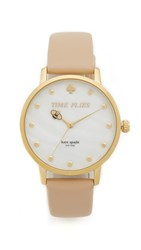 Kate Spade Metro Watch Tan Gold
