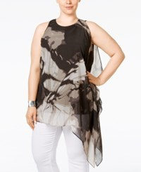 Alfani Plus Size Butterfly Print Asymmetric Tunic Only At Macy's Scenic Butterfly