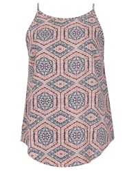 Izabel London Geometric Optical Printed Top Multi Coloured