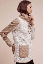 Anthropologie Lake Placid Sweater Coat Neutral