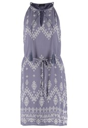 Vila Vitokyo Summer Dress Folkstone Gray Grey