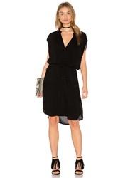 Lanston Sleeveless Shirt Dress Black