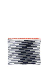 Sophie Anderson Woven Clutch Blue