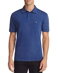 John Varvatos Star Usa Heathered Peace Slim Fit Polo Shirt Blue