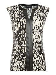 Episode Neru Neck Top Leopard Print