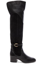 Chloe Suede Lenny Over The Knee Boots In Gray