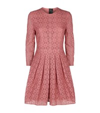 Burberry Long Sleeve Lace Dress Female Pink