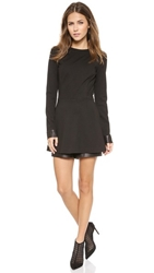 One By Beckley By Melissa Leather Romper Black