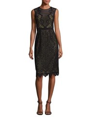 Bcbgmaxazria Suzannah Scalloped Lace Dress Black