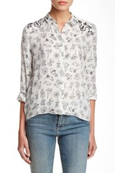 Zadig And Voltaire Tiano Manga Deluxe Silk Blouse White