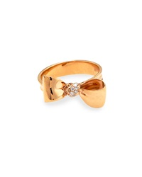 Mimi So 18K Rose Gold Pave Petite Bow Ring