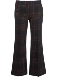 Barbara Bui Tartan Cropped Trousers Black