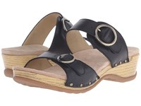 Dansko Manda Black Full Grain Women's Sandals