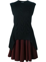 Alexander Mcqueen Sleeveless Full Circle Dress Black