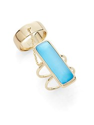 Alexis Bittar Lucite Double Band Ring Azure