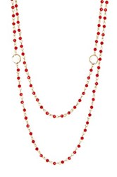 Nordstrom Rack Layered Rosary Glass Bead Necklace