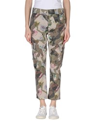 Fracomina Trousers Casual Trousers Women Military Green